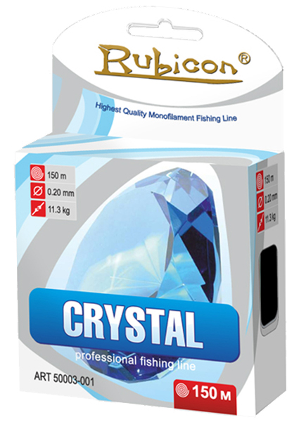 Леска RUBICON Crystal 150m d=0,38mm (light gray)