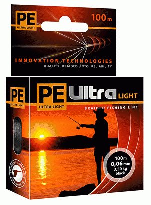 PE ULTRA Light 100m black, 0.10mm