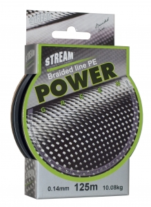 Леска плетеная STREAM Power Green 125m d=0,30 mm