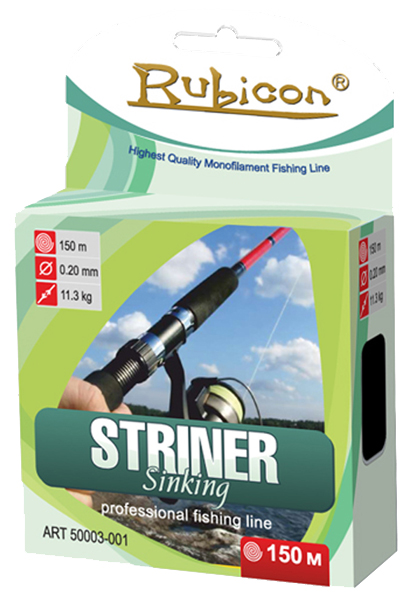 Леска RUBICON Striner Sinking 150m d=0,18mm (olive)
