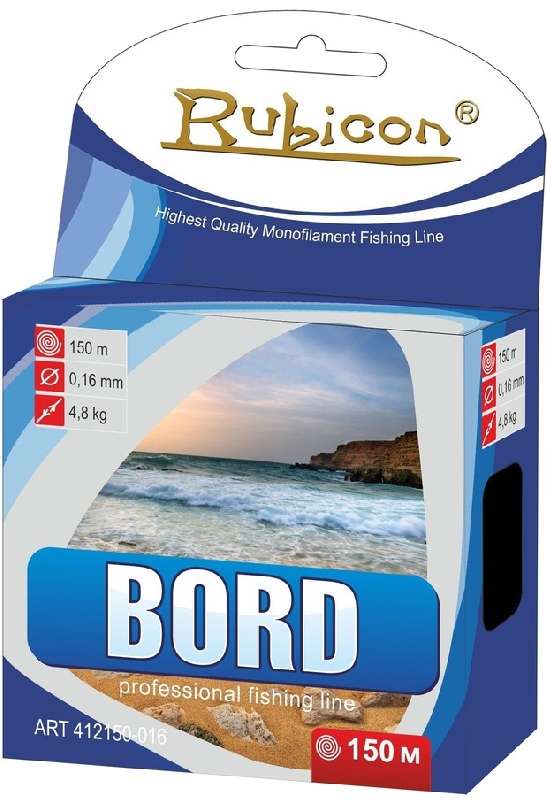 Леска RUBICON Bord 150m  d=0,42mm (dark blue)