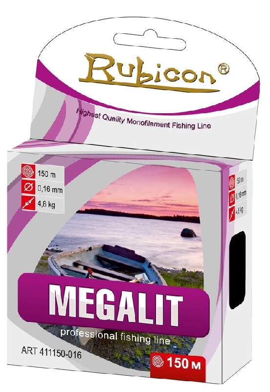 Леска RUBICON Megalit 150m  d=0,22mm (dark gray)