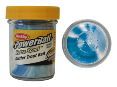 Паста Berkley Powerbait Extra Scent Glitter Trout Bait (Неон/белый)