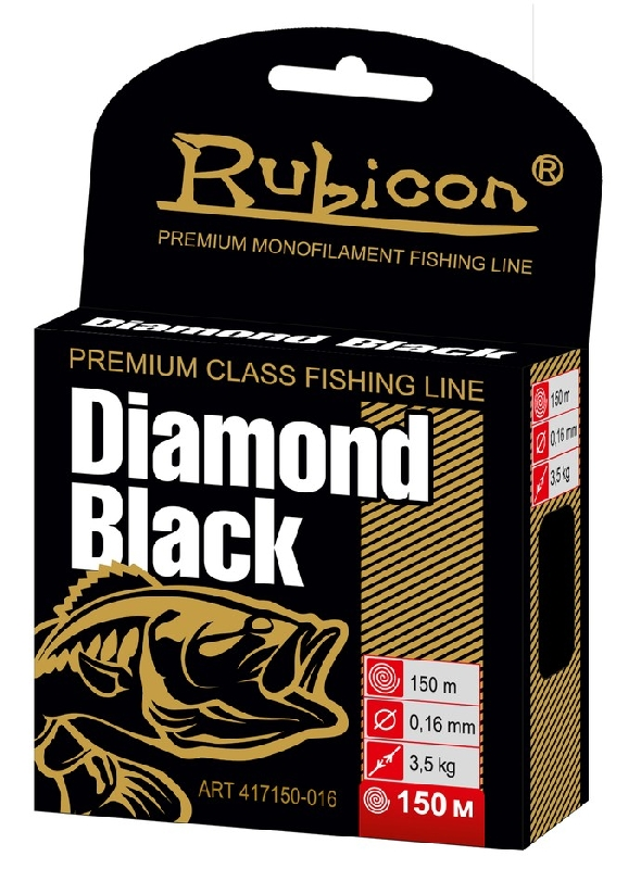Леска RUBICON Diamond Black 150m  d=0,16mm