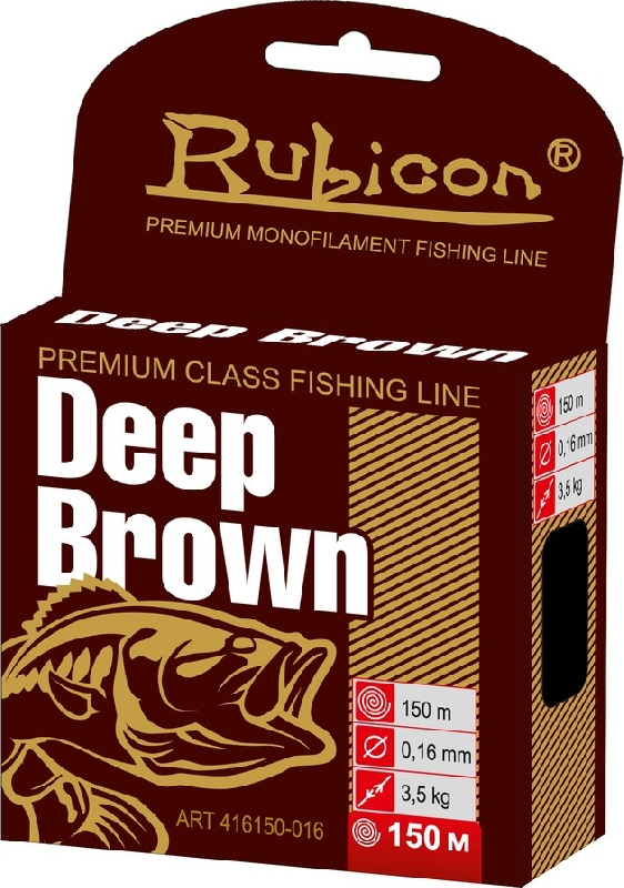 Леска RUBICON Deep Brown 150m  d=0,16mm