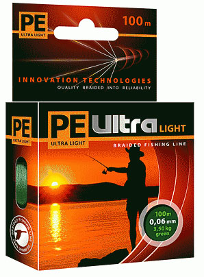 PE ULTRA Light 100m dark green, 0.10mm