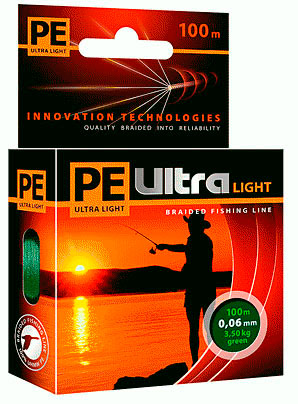 PE ULTRA Light 100m olive, 0.12mm