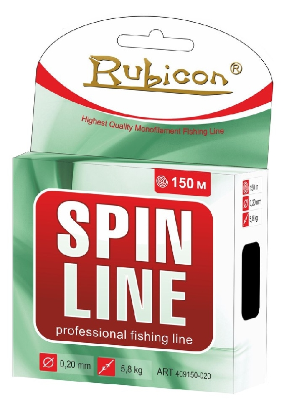 Леска RUBICON Spin Line 150m  d=0,42mm (yellow)