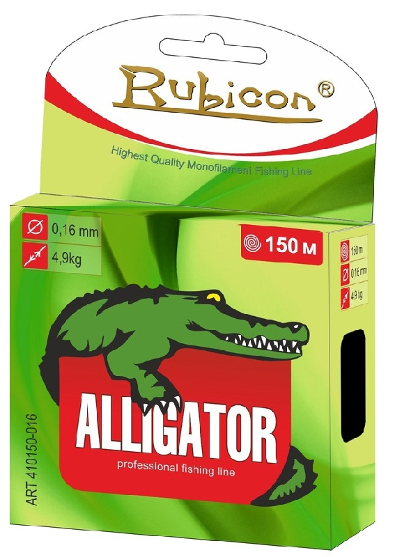 Леска RUBICON Alligator 150m  d=0,22mm (dark green)